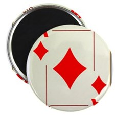 "Ace of Diamonds Playing Card 2.25"" Magnet (100 pac"