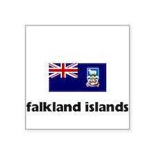 I HEART FALKLAND ISLANDS FLAG Sticker