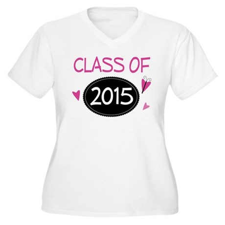 Class of 2015 (butterfly) Women's Plus Size V-Neck