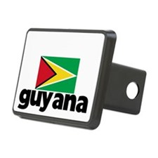 I HEART GUYANA FLAG Hitch Cover