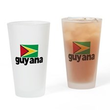 I HEART GUYANA FLAG Drinking Glass