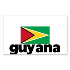 I HEART GUYANA FLAG Decal