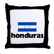 I HEART HONDURAS FLAG Throw Pillow