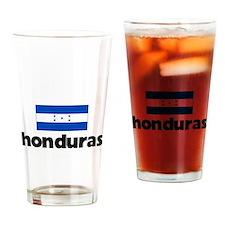 I HEART HONDURAS FLAG Drinking Glass