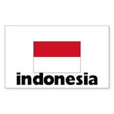 I HEART INDONESIA FLAG Decal