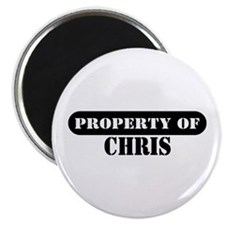 "Property of Chris 2.25"" Magnet (100 pack)"