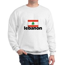 I HEART LEBANON FLAG Sweatshirt