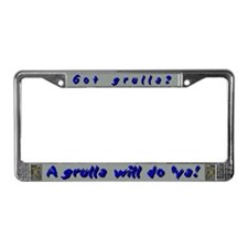 """Got grulla?"" License Plate Frame"