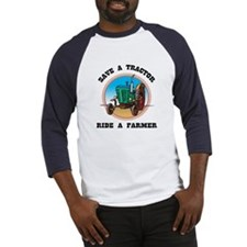 Save a Tractor, Ride a Farmer Baseball Jersey
