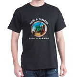 Save a Tractor, Ride a Farmer Black T-Shirt