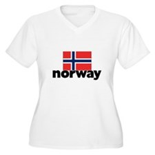 I HEART NORWAY FLAG Plus Size T-Shirt