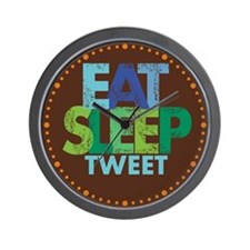 EAT SLEEP TWEET Wall Clock