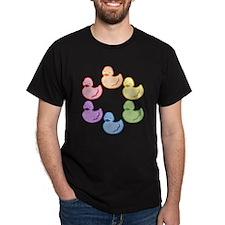 duckie-rainbow-row_tr2.png T-Shirt