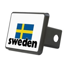 I HEART SWEDEN FLAG Hitch Cover