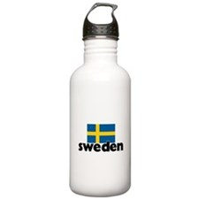 I HEART SWEDEN FLAG Water Bottle