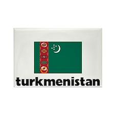 I HEART TURKMENISTAN FLAG Rectangle Magnet
