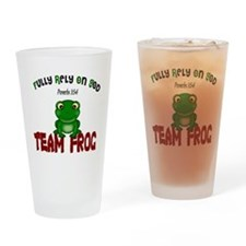 team frog Drinking Glass