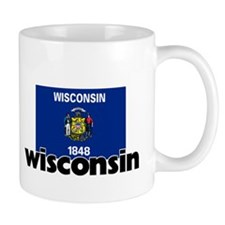 I HEART WISCONSIN FLAG Mug