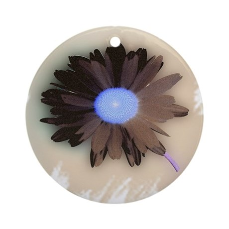 Country Daisy Ornament (Round)