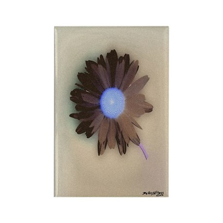 Country Daisy Rectangle Magnet (100 pack)