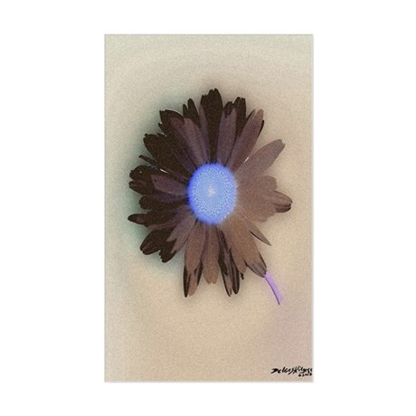 Country Daisy Rectangle Sticker