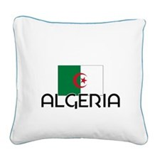 I HEART ALGERIA FLAG Square Canvas Pillow