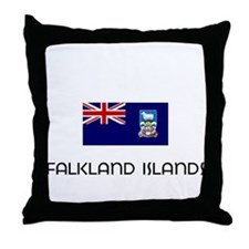 I HEART FALKLAND ISLANDS FLAG Throw Pillow