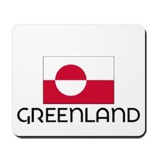 I HEART GREENLAND FLAG Mousepad