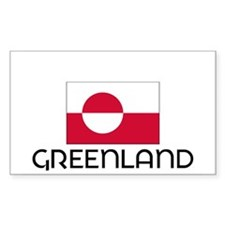 I HEART GREENLAND FLAG Decal