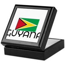 I HEART GUYANA FLAG Keepsake Box
