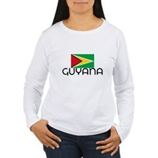 I HEART GUYANA FLAG Long Sleeve T-Shirt
