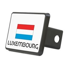 I HEART LUXEMBOURG FLAG Hitch Cover