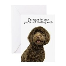 Labradoodle Get Well Card