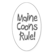 Maine Coon cats rule Oval Decal