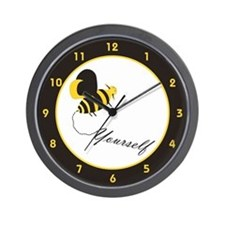Bee Yourself Wall Clock