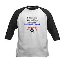 Custom I Love My Yorkshire Terrier Baseball Jersey