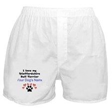 Custom I Love My Staffordshire Bull Terrier Boxer