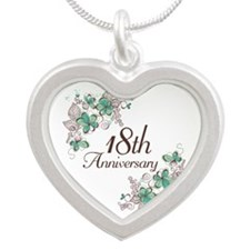 18th Anniversary Keepsake Silver Heart Necklace