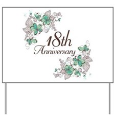 18th Anniversary Keepsake Yard Sign