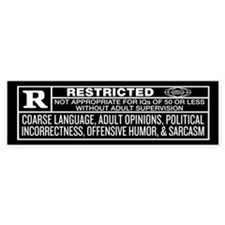 Rated R Bumper Bumper Sticker