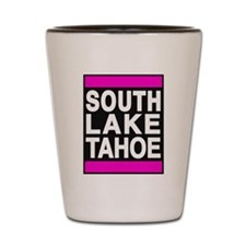 south lake tahoe 1 pink Shot Glass