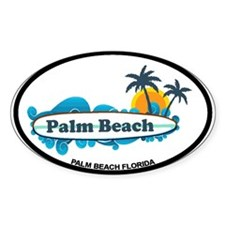 Palm Beach - Surf Design. Decal