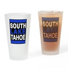 south lake tahoe 2 blue Drinking Glass