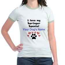 Custom I Love My Springer Spaniel T-Shirt