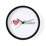 I Heart Chihuahuas Wall Clock