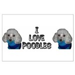 I Love Sweater Poodles Large Poster
