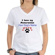 Custom I Love My Pomeranian T-Shirt