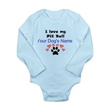 Custom I Love My Pit Bull Body Suit