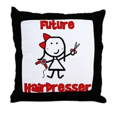Future Hairdresser Throw Pillow