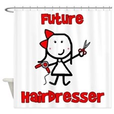 Future Hairdresser Shower Curtain
